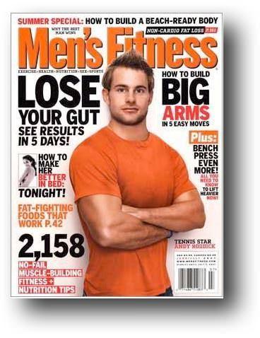 Andy Roddick på coveret til Men´s fitness
