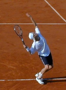 Lleyton Hewitt i French Open 2001.