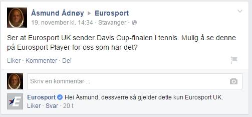 Eurosport svarer på spørsmål om Davis Cup-finalen