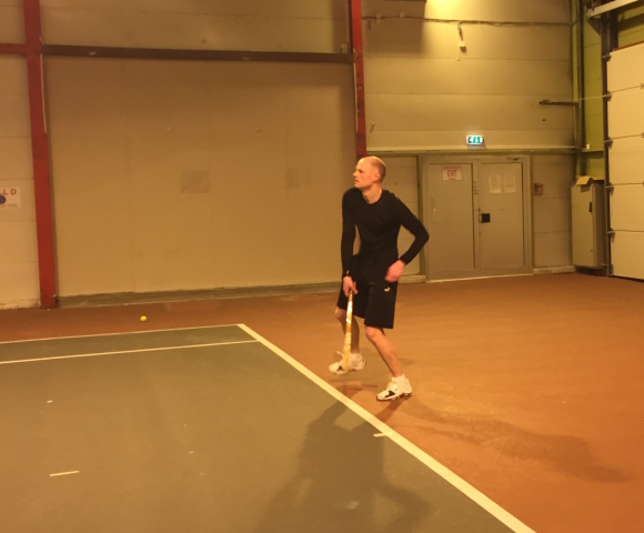 Tennis med Thomas Dybdahl og P2