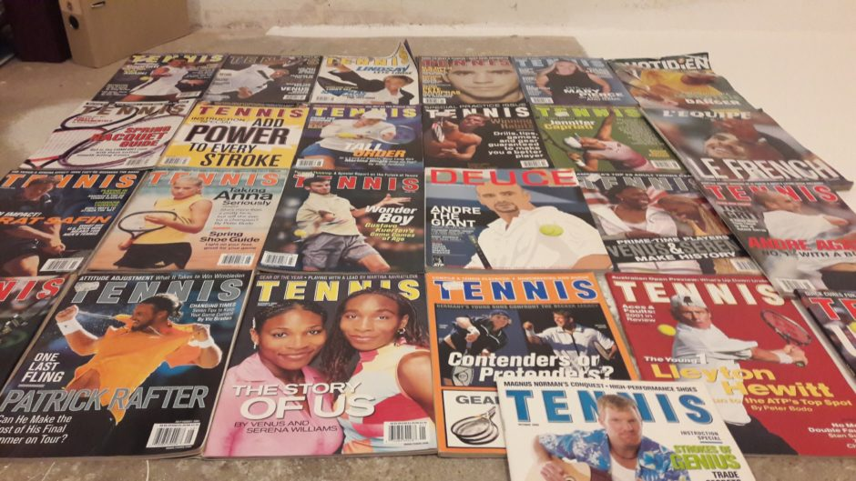 Tennis magazine gamle blader
