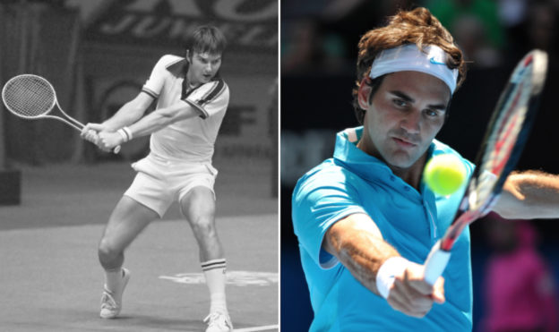 Roger Federer og Jimmy Connors (Wikimedia Commons)